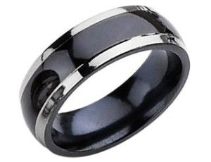 http://dyal.net/mens-titanium-wedding-rings Two tone titanium wedding ring for men