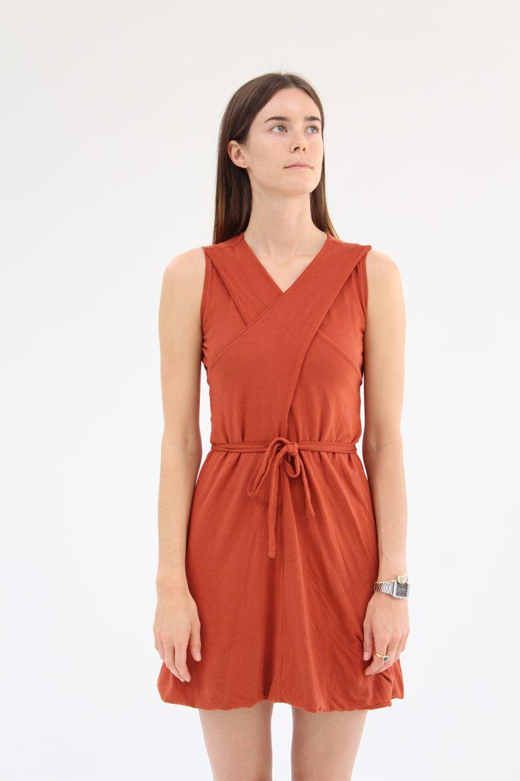 Lina Rennell Criss Cross Jersey Wrap Dress Terra Cotta | Terra cotta ...