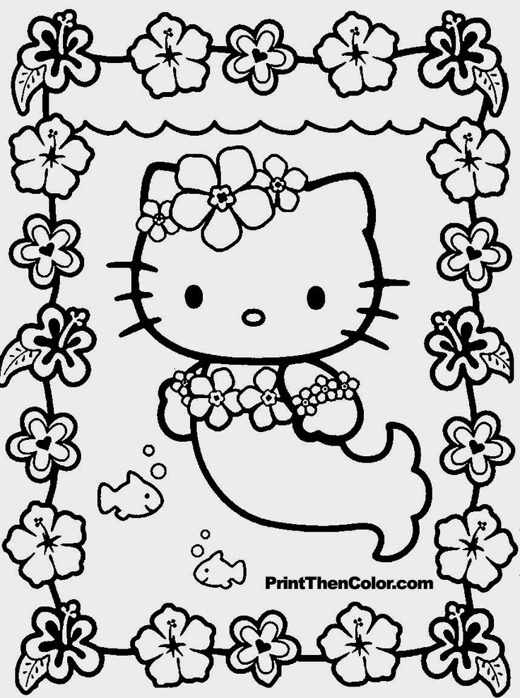 Coloring Sheets Hello Kitty Easy To Color Pages Printable And Colors How Free For Kids