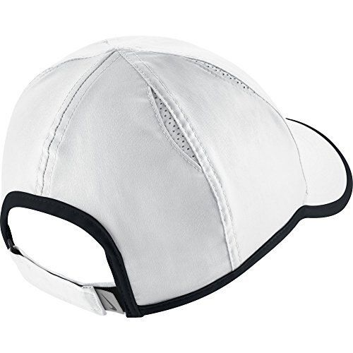 Nike Women S Aerobill Featherlight Tennis Cap White Black Black One Size In 2020 Nike Women Caps For Women Fitted Hats