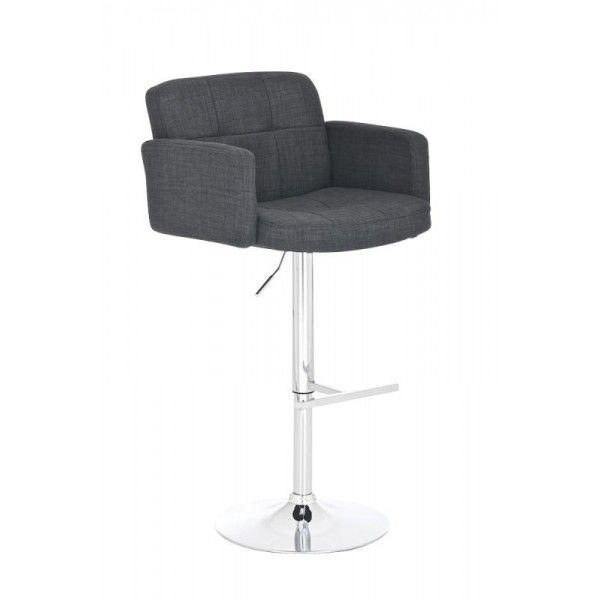 Barkruk Silvie Stof Grijs Design online 24 €129