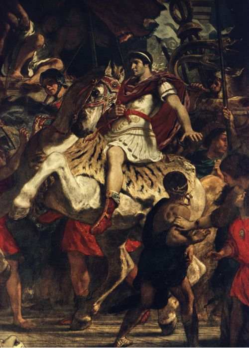 The Justice of Trajan. Eugene Delacroix, 1840.