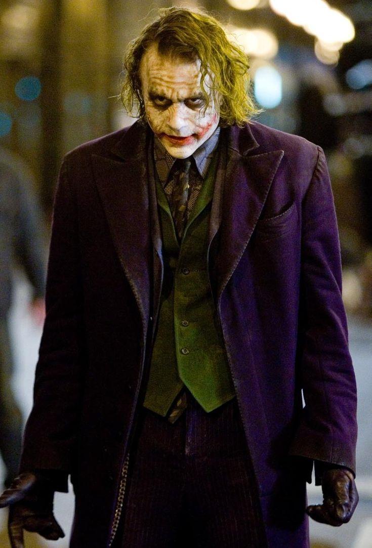 Heath Ledger as The Joker in The Dark Knight Rises.