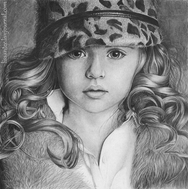 Дети картинки красивые нарисованные карандашом