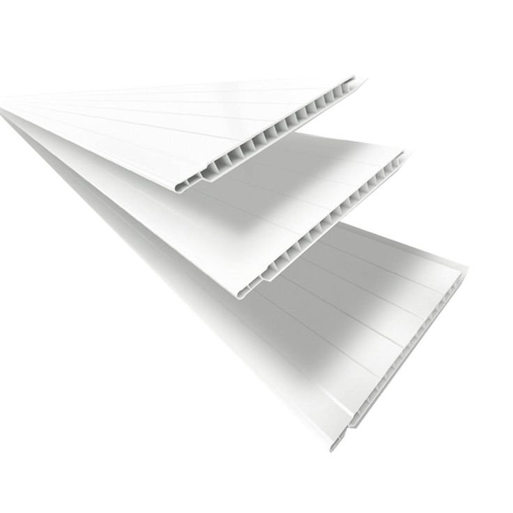 Forro Linear de PVC Polifort 8mm x 20cm x 3m (m²) Branco Neve
