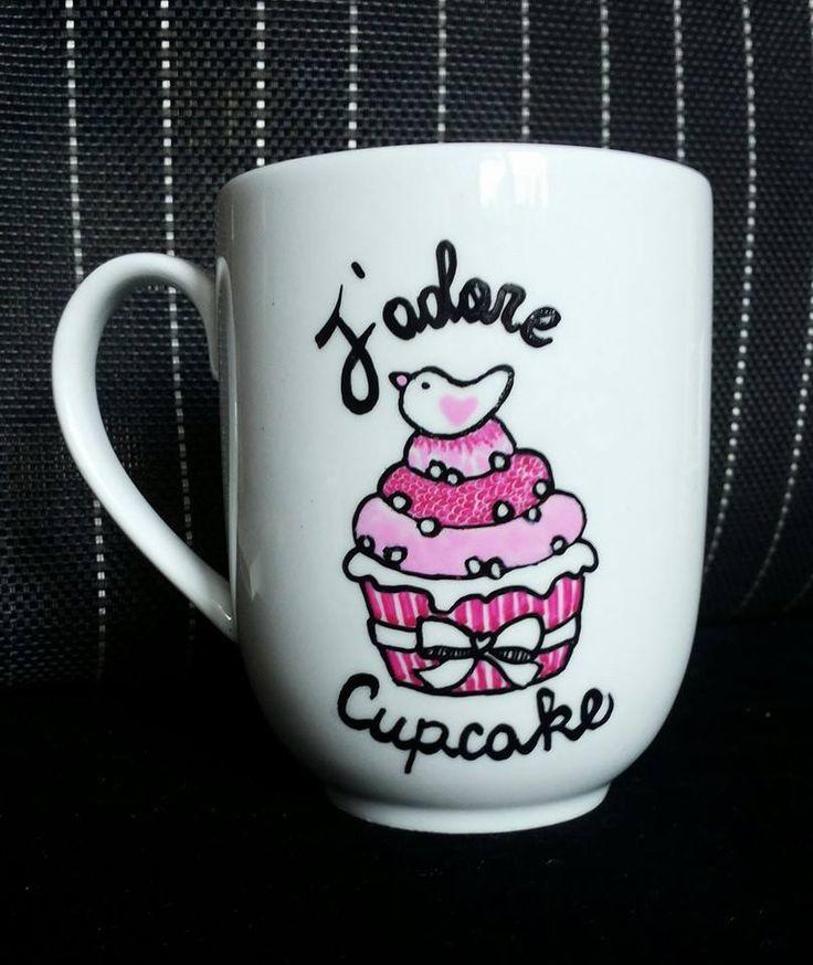 #mug #mugillustration #cupcake #sweet #pink #drawing
