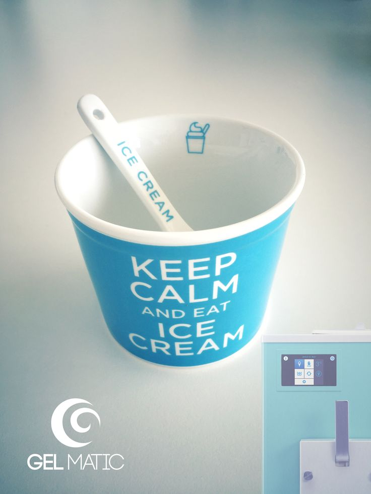 Keep calm and eat ice cream! #gelmatic #summer #icecream #gelato www.gelmatic.com