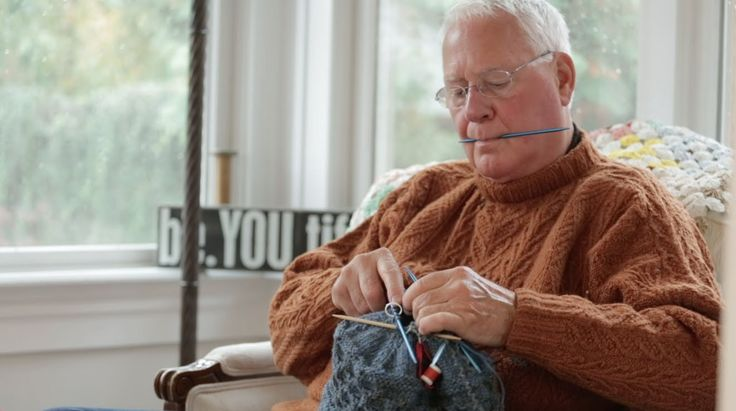Most new knitters start by making a scarf. The first thing this artist ever knitted was an Irish fisherman's sweater. Both unconventional and frugal¬ - and a...