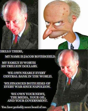 """The Rothschild's Bloodline. """" According to eye-witnesses, who were prominent enough to visit one of the British Rothschild homes, the Rothschilds WORSHIP yet another god too, SATAN. They set a place for him at their table."""""""