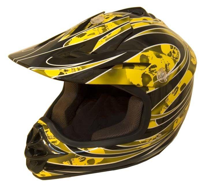 Dot Certified Yellowg Kids Mx Motocross Helmet Motorcycle Atv
