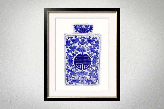 c0f659923aca Blue White Vase Print
