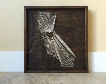 Ongles et String Wall Art Louisiane état fils par MyHammerNailedIt