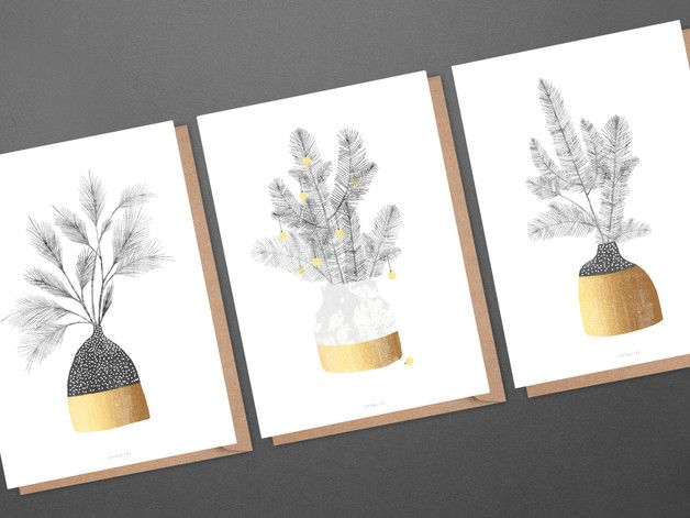 Weihnachtskarten Set / No. 21 - typealive - Kartki świąteczne