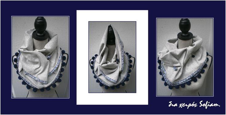 """14N5_scarf """"Blue Jeans"""""""