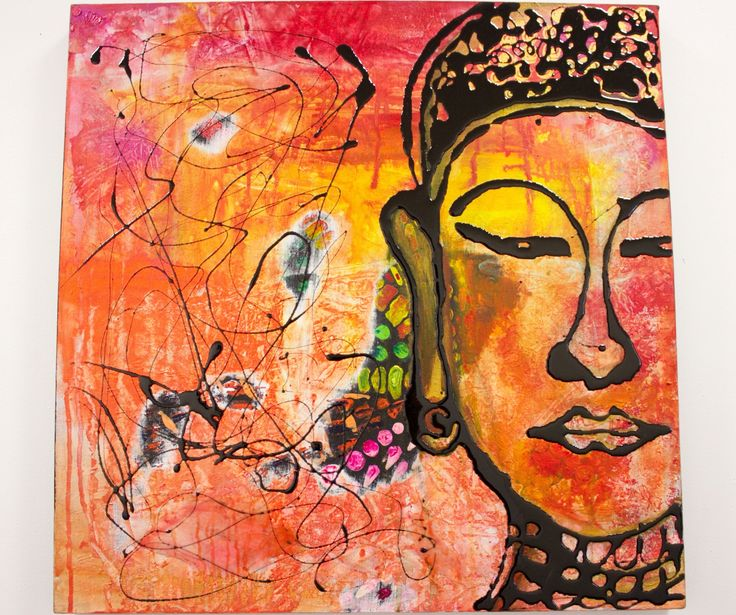 """""""Buddha"""" by Purvi Patel. Paintings for Sale. Bluethumb - Online Art Gallery"""