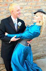 Siouxzi & Alan's steampunk wedding
