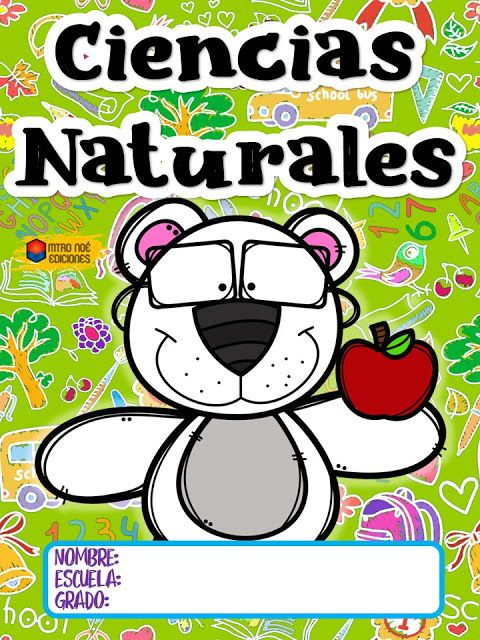 Tareitas Portada Ciencias Naturales Portada De Cuaderno De Ciencias Caratulas De Ciencias Etiquetas Preescolares