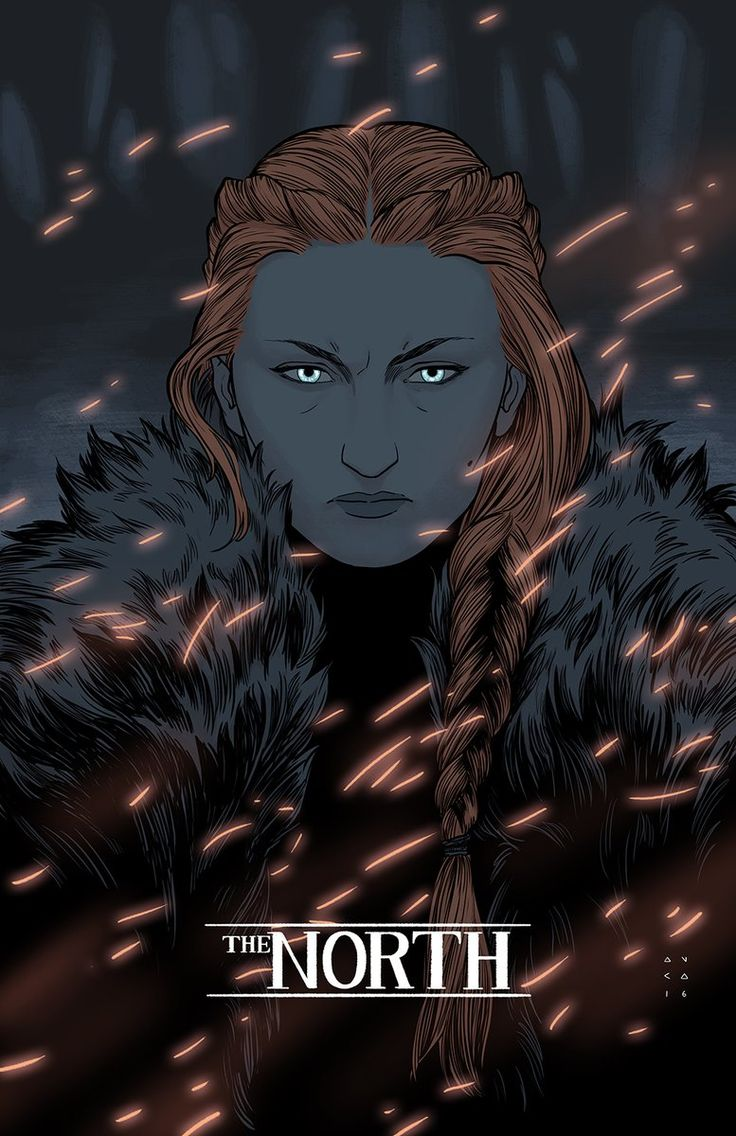 Sansa Stark by Kris Anka, her eyes remind me from the scene she let the DOGS…