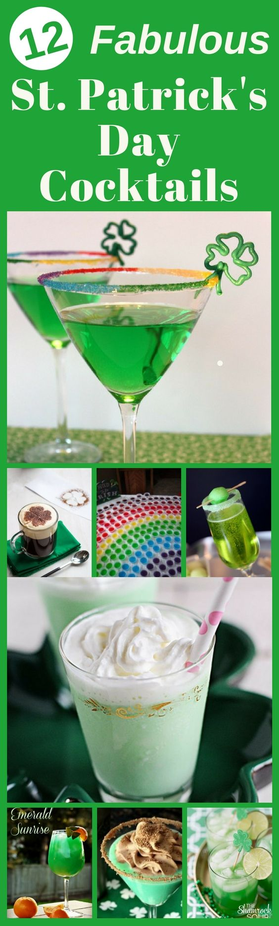 St. Patrick's Day Drinks - Looking for fun St. Patty's cocktails?  Impress your party guests with a signature Irish cocktail!  What better way for adults to celebrate than with green alcohol? #stpatricksdaycocktails #stpatricksday via @camdenmcl