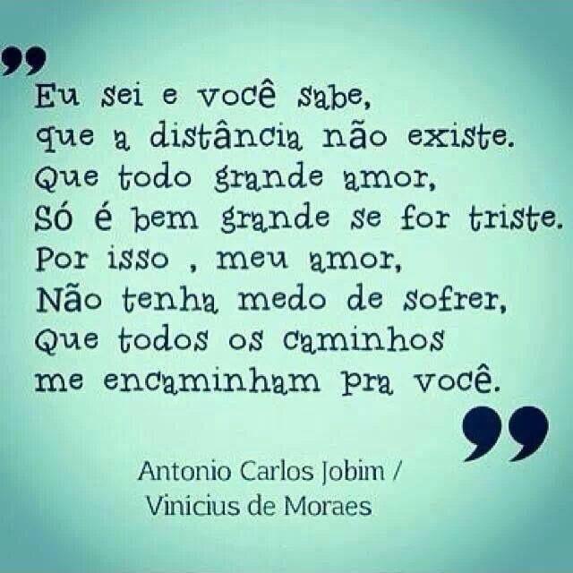 Trecho de música (com erros na transcrição) - Antônio Carlos Jobim & Vinicius de Moraes.