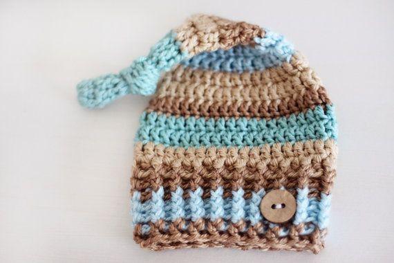 Crochet Pattern For Baby Elf Hat : Crochet Elf Knot Newborn Hat Pattern