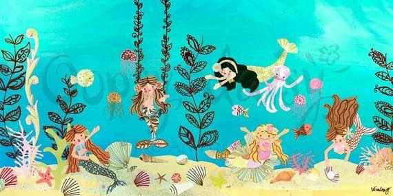 Mermaid play by winborgdesign on Etsy