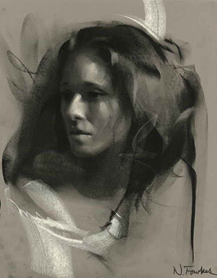 553 best portraits drawing attention images on pinterest nathan fowkes charcoal and pastel 2012 figurative art beautiful female head woman woman face portrait drawing nathanfowkesart ccuart Images