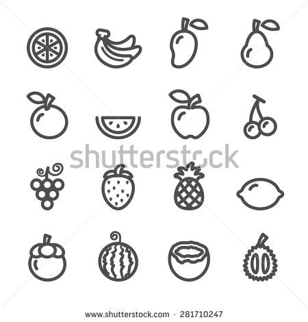 line icon fruit - Google Search