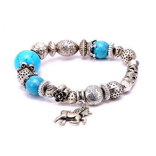 Ultra Stylish Horse Charm Bracelet
