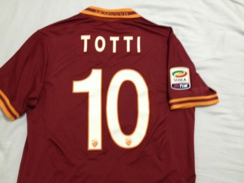 TOTTI MATCH WORN ISSUED, MAGLIA SHIRT CAMISETA INDOSSATA GARA ROMA-GENOA-4-0