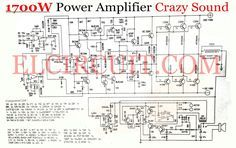 1700W power amplifier crazy sound output