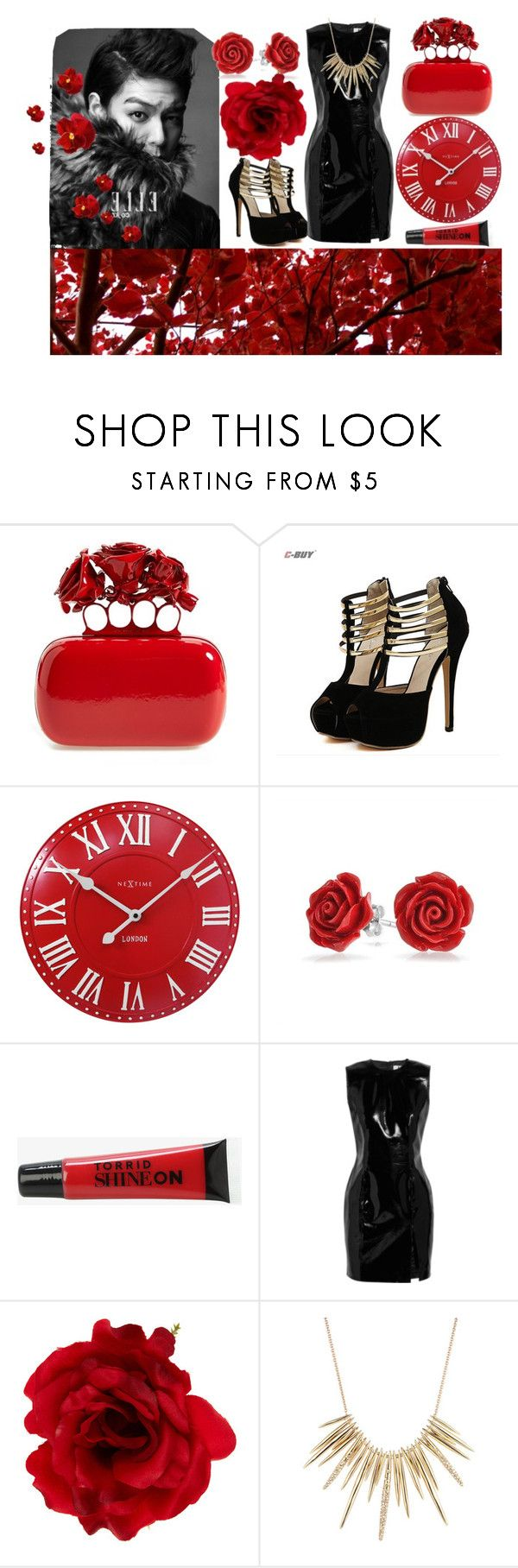 """heartbreaker 💋💔"" by alieksandra ❤ liked on Polyvore featuring Alexander McQueen, NeXtime, Bling Jewelry, Torrid, Topshop Unique, Accessorize and Alexis Bittar"