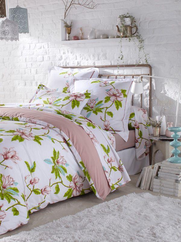 Parures De Lit Fleurs Blanche Collection Barbara Par Tradilinge Linge De Lit Housse De Couette Romantique Parure De Lit