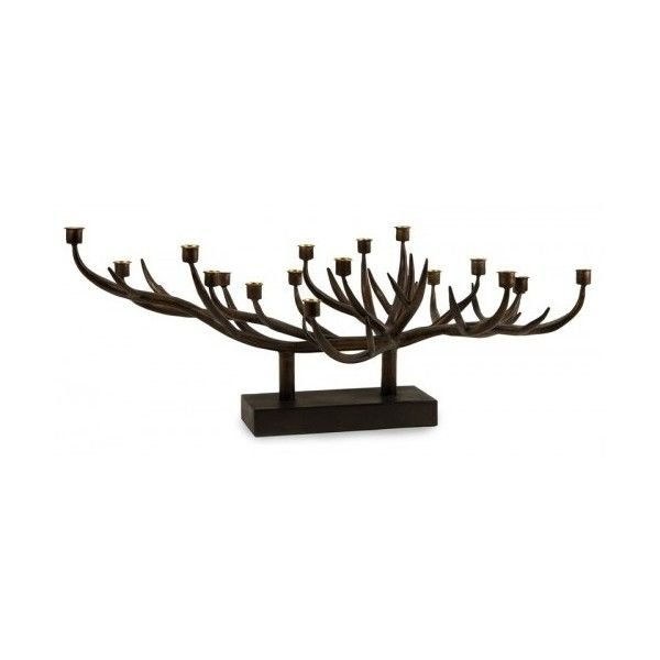 Iron Branch Antler Candelabra Centerpiece (270 CAD) ❤ liked on Polyvore featuring home, home decor, iron home decor, branch home decor, antler home decor, branch centerpieces and tree branch centerpieces