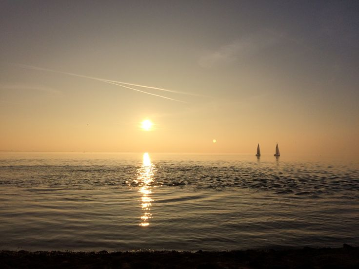 Oosterschelde, sunset, two boats, amazing view