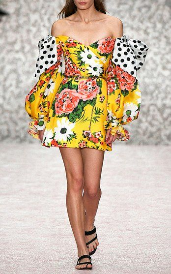 ba49d43ba693 Floral Silk Dress by Carolina Herrera SS19 | Party Dressing in 2019 ...