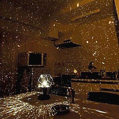 DIY Romantic Galaxy Starry Sky Projector Night Light (2xAA/USB) - USD $ 9.99