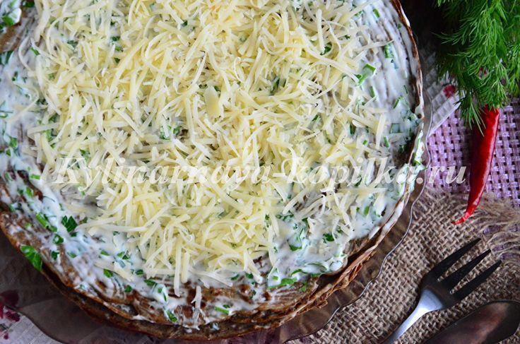 Печеночный торт из куриной печени: рецепт с фото пошагово