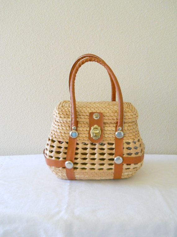 My new 1960's basket purse for summer picnics with my baby