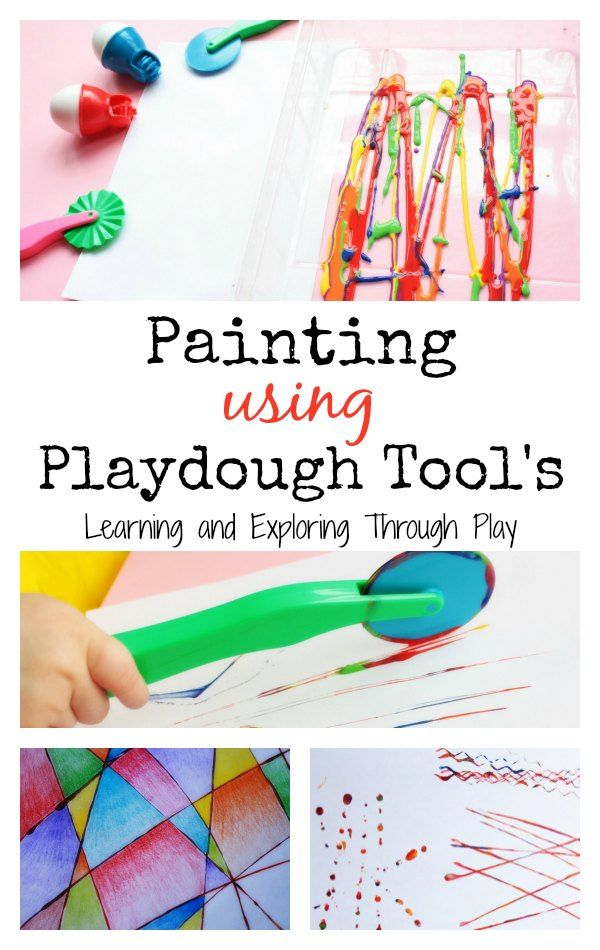 Learning and Exploring Through Play: Playdough Tool Painting