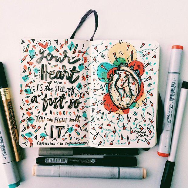 Eugenia Clara conta histórias através de letterings e doodles