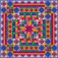 Block Buffet Quilt Pattern FHD-121; quiltwoman.com