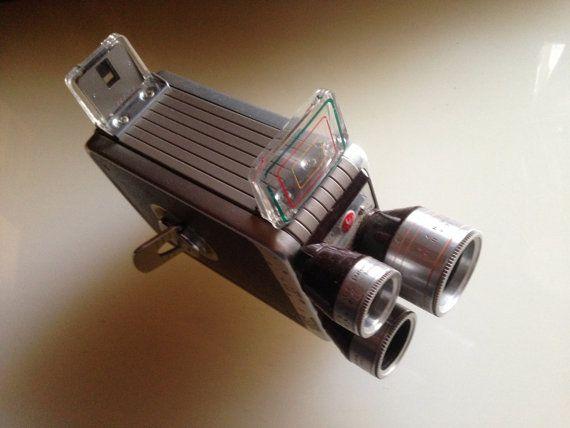 Kodak BROWNIE MOVIE Camera - Triple Turret 8mm Movie Camera