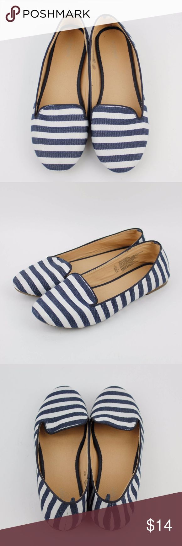 Blue White Striped Nautical Ballet Flats Shoe Sz 9 Old Navy White Blue Striped Nautical Ballet Flats  Size: 9  Gently used condition with little signs of wear. Please see photos for details Old Navy Shoes Flats & Loafers