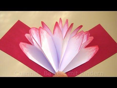 Basteln mit Papier: Pop-Up Karte selber machen - Bastelideen - Geschenke basteln - DIY - Ideen - YouTube