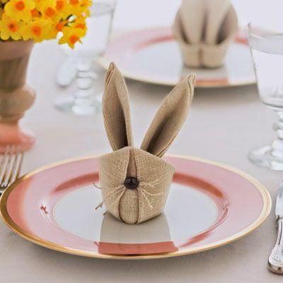20 ιδέες με χειροπετσέτες για το Πασχαλινό τραπέζι.   Φτιάξτο μόνος σου - Κατασκευές DIY - Do it yourself