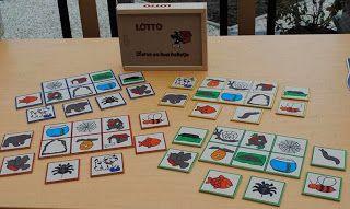 Lotto spel: dieren en hun holletje