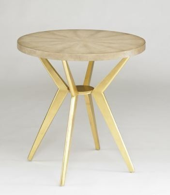 The odin side table is a modern side table by dwell studio for Round gold side table
