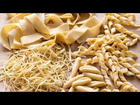 How to make Pasta Shapes at Home (e.g. Tagliatelle, Fusilli, Farfalle) | HappyFoods - YouTube (www.ChefBrandy.com)