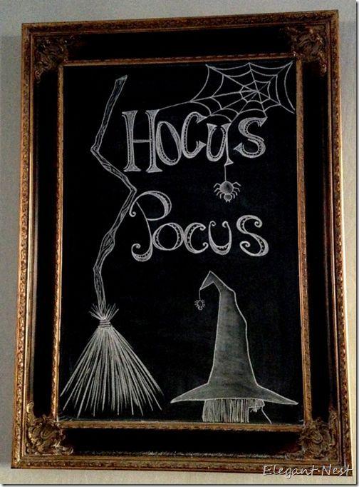 Halloween Chalkboard Art decor                                                                                                                                                     More